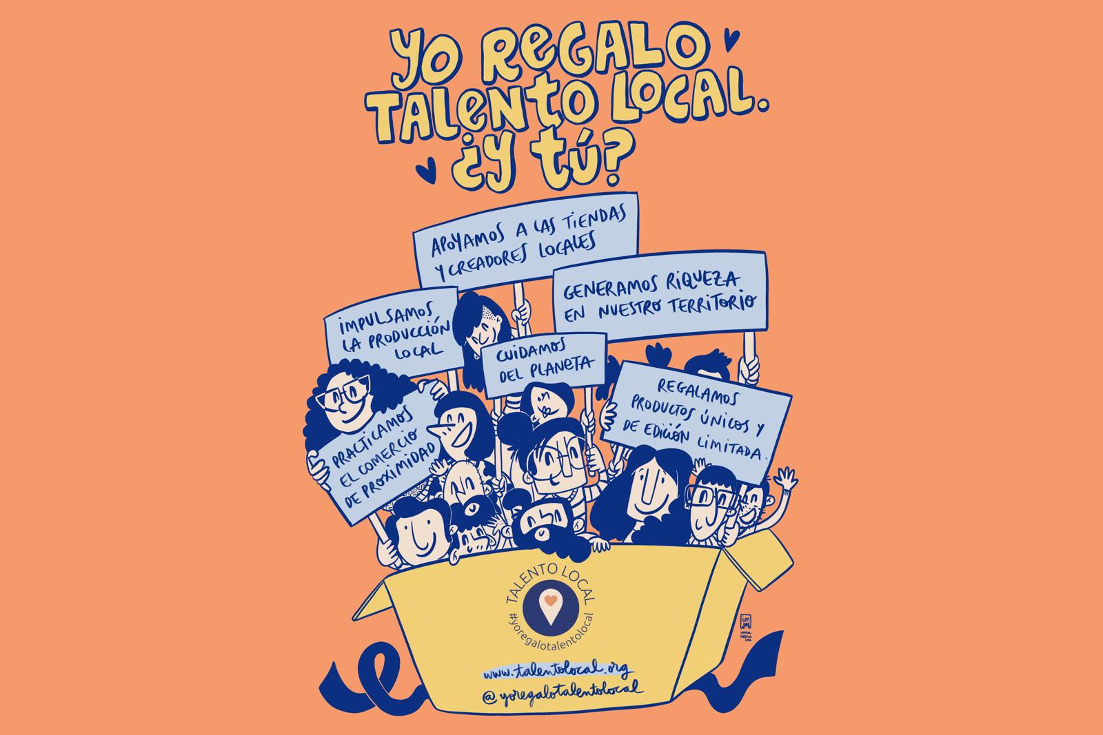ilustración #yoregalotalentolocal 2020